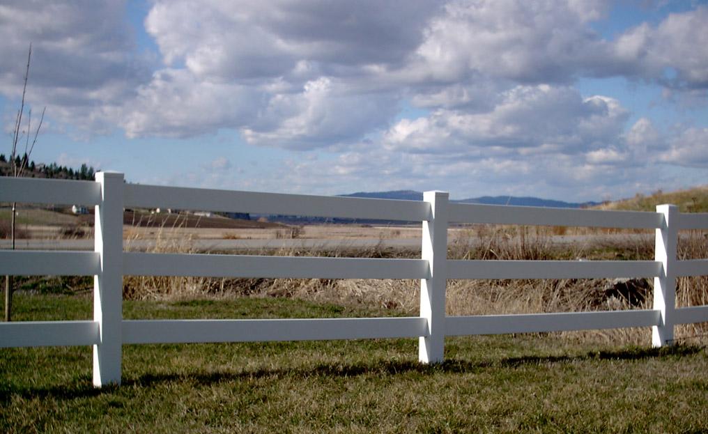 Unique Fencing Vinyl Post Rail Fence