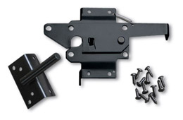 large marine grade powder coated black stainless steel latch