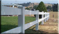 2 Rail Fence Vinyl up on Spokane South Hill installed by valley fence