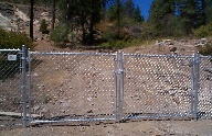 Double drive 5 ft gate with galvanized Chain Link fabric 11 gauge with square welded corners