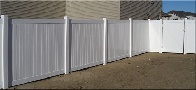 Vinyl Privacy Fence with 11 1/4 inch pickets and U - Channel